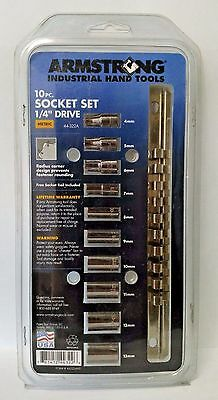 "Armstrong 44-322A 10-Piece 1/4"" Drive 6 Point Metric Socket Set USA"