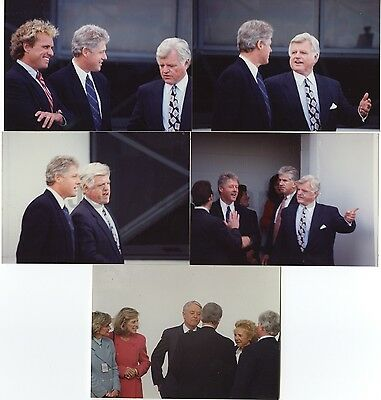Bill Clinton & Ted Kennedy - Lot of 5 Original Candid Photos by Peter Warrack