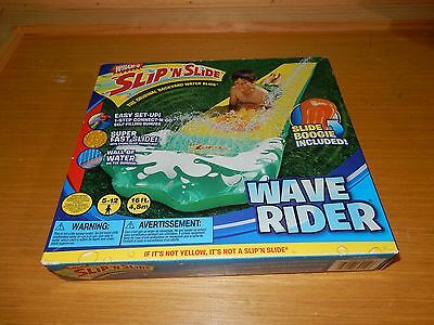 New In Box Wham-O Slip N Slide Yellow Wave Rider W Slide Boogie Board Included