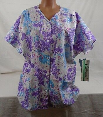 05886bef17f Crest Short Sleeve Scrub Top Size Extra Large 3227 Racing Purple 379E