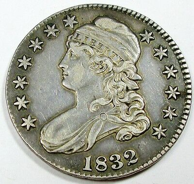 1832 United States Capped Bust Half Dollar - XF+ Extra Fine Plus Condition