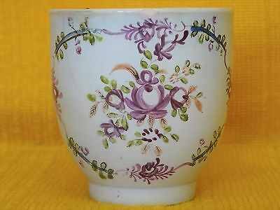 18thC English Pearlware Famille Rose COFFEE CUP, c1770's