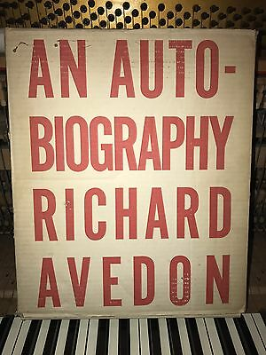 Richard Avedon 'an Autobiography' Signed First Edition