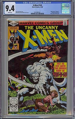 Uncanny X-Men #140 CGC 9.4 NM Wp Vs. Wendigo Marvel Comics 1980 John Byrne Art