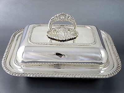 Vintage Top Quality SHEFFIELD REPRODUCTION Silverplate COVERED ENTREE DISH