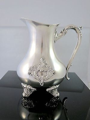 Vintage Gorgeous BURKE & WALLACE CANADA Silverplate ORNATE WATER PITCHER
