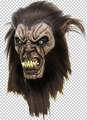 Mask Head & Neck Werewolf Wolfman Halloween Masquerade Cosplay Fancy Dress Acces