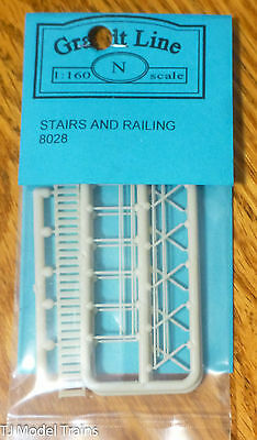 Grandt Line #8028 (N Scale) Stairs & Railing (Plastic parts)