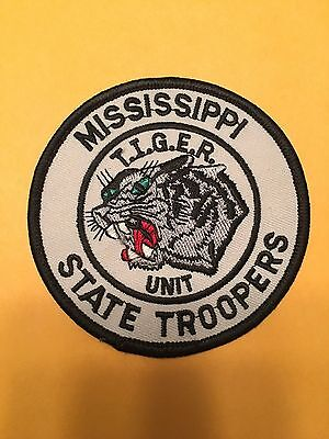 Mississippi State Troopers Tiger Unit  Shoulder Patch