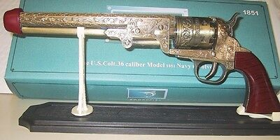 Replica Antique Pistol Table Gun w/Stand - Navy Colt Model 1851 -  New