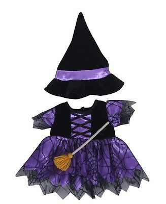 "Halloween witch & broom & hat outfit teddy bear clothes fits 15"" build a bear"