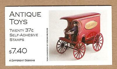 BK292 - 37c booklet of 20 - 3642-3645 - Antique TOYS