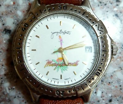 RARE, Ladies Jimmy Buffett Margaritaville Wristwatch, Leather Band, Original Box