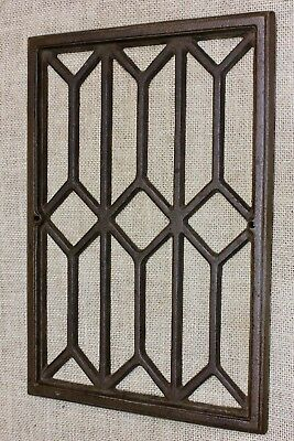 "Heat Air Grate register old clean cast iron 8 1/4"" x 12"" fireplace vent grill"