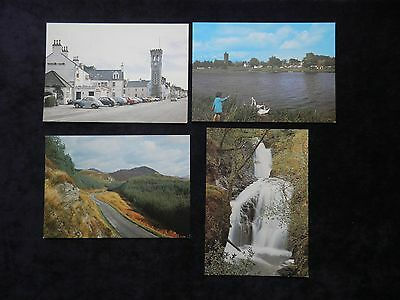 4 Vintage Scottish Postcards Of Kirkcudbrightshire, Buchan Burn, Carlingwark