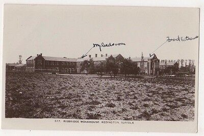 Risbridge Workhouse Kedington Suffolk RP Postcard, B695