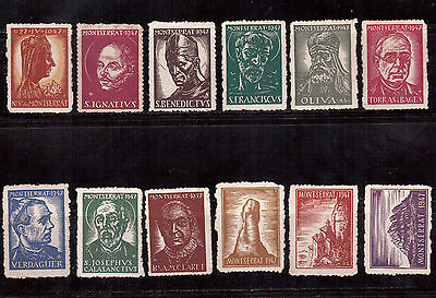 Montserrat 1947, Cinderella Lot Of 12 Mint !!