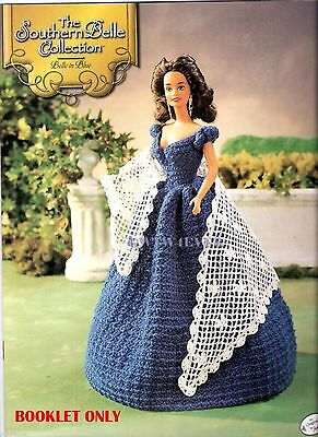 "Barbie CROCHET for SCARLETT O'HARA ""The Blue Portrait Dress""  GONE WITH THE WIND"