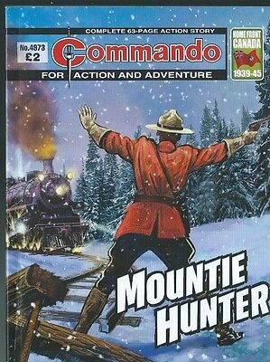 Mountie Hunter,commando For Action And Adventure,no.4973,war Comic,2016