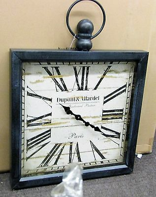 "Large Gallery Square Wooden Wall Clock 32"" X 24""  Pocket Watch Style 52517"