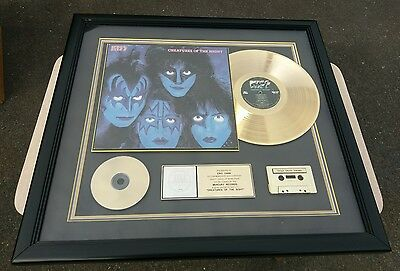 Kiss Creatures Of The Night Gold Riaa Award Rare Presented To Eric Carr