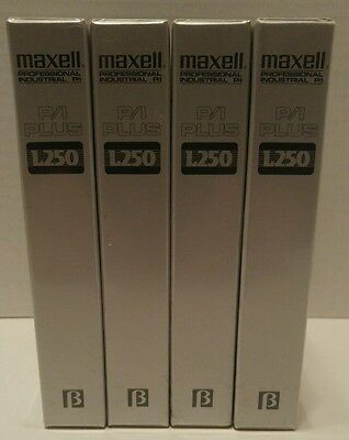 MAXELL L-250 P/I PLUS BETA CASSETTE TAPES Epitaxial RECORDABLE Lot of 4 NEW