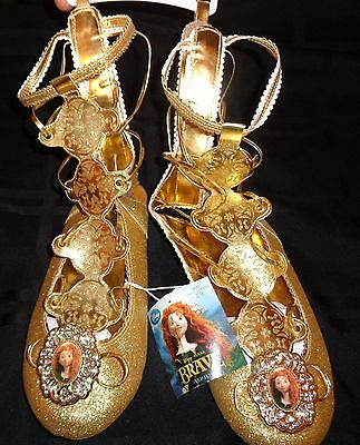 New Disney Store Brave Merida Costume Dress-Up Shoes Size 2/3