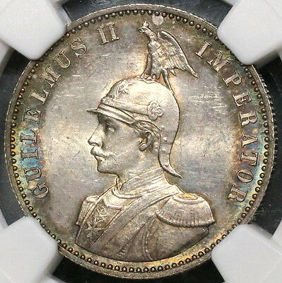 1891 NGC MS 64 German East Africa Silver 1/2 Rupie Coin 68K Minted (17030101C)