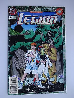 Legion of Super-Heroes Annual #5   High Grade NM-   Elseworlds   Curt Swan