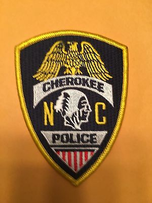 Cherokee North Carolina  Police  Shoulder  Patch