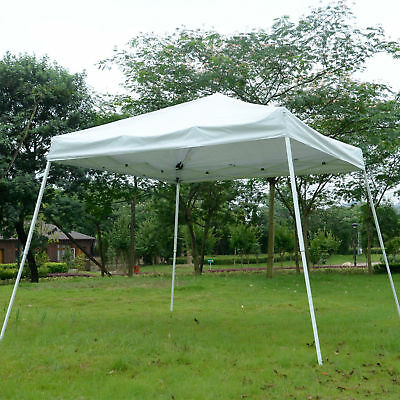10x10' Easy Pop-up Canopy Party Tent Sunshade Shelter w/Slant Leg