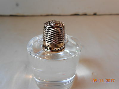 VINTAGE  SOLID 10K GOLD THIMBLE  No 10