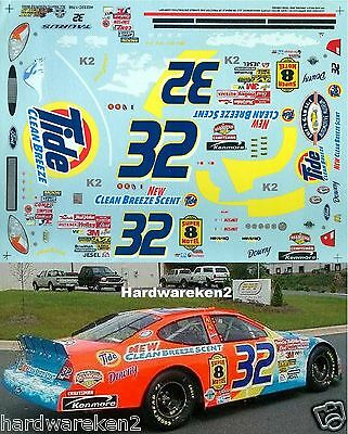 Nascar Decal #32 Tide Clean Breeze 2002 Ford Taurus Ricky Craven  Slixx