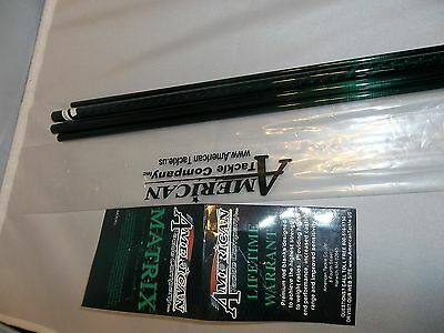 "American Tackle Matrix 7' 6"" 4 wt 5 pc green fly rod blank  great travel rod!"