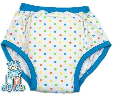 Big Tots 6 sizes Polka Dots adult training pants  baby pattern