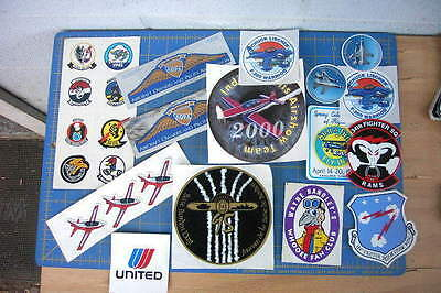 Aircraft Airplanes Budweiser Airshow Lot Of 15 Nice Stickers Vintage