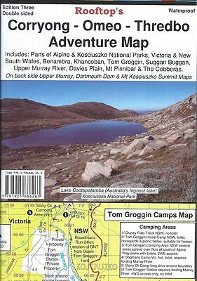 ROOFTOP'S CORRYONG - OMEO- THREDBO ADVENTURE MAP - 3rd EDITION
