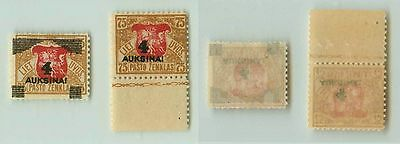 Lithuania, 1922, SC 114-115, mint. rta3701