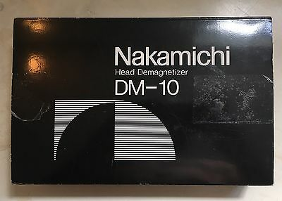 Vintage Nakamichi Head Demagnetizer DM-10 with Instructions Complete in Box