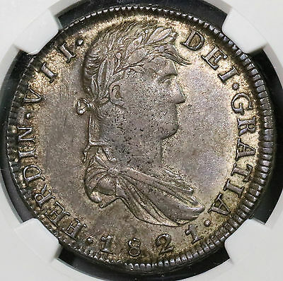 1821-Zs NGC XF 45 War of Independence MEXICO Silver 8 reales Coin (16110110C)