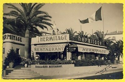 """CPA Photo Georges Alpes Maritime ? AMERICAN BAR DANCING RESTAURANT """" HERMITAGE """""""