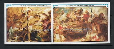Antigua & Barbuda Mnh 1991 Ms1474 350Th Death Anv Of Rubens