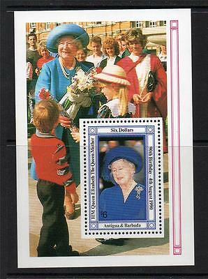 Antigua & Barbuda Mnh 1990 Ms1419 90Th Birthday Of The Queen Mother