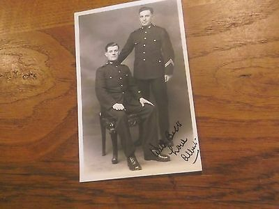 Vintage Signed Real Photo Postcard Of What Looks Like 2 Policemen - Police