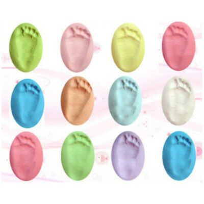 Multi-color  Air Drying Soft Clay Baby Handprint Footprint Imprint Kit Casting