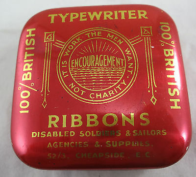 """Disabled Soldiers & Sailors Cheapside Tin """"It is work the men want not charity"""""""