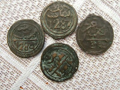 FOUR 19th CENTURY MOROCCAN COINS......N.S.2