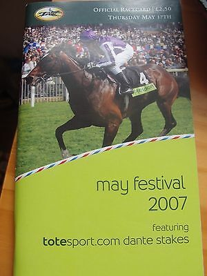 YORK DANTE RACECARD 2007 AUTHORIZED wins before DERBY