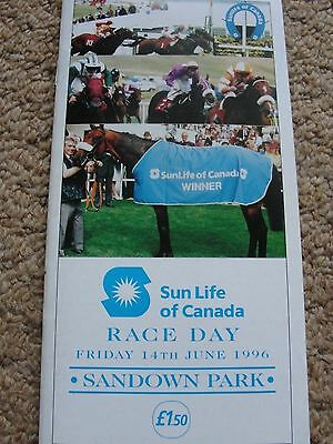 BENNY THE DIP Debut RACE CARD Sandown June 1996 JOHN GOSDEN Derby Winner
