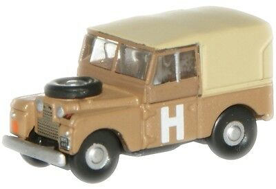 "Bnib N Gauge Oxford Diecast 1:148 Nlan188002 Land Rover 88"" Sand / Military"